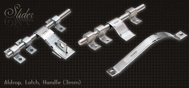 Designer SS Hardware Fittings, Door Aldrops, Latch, Handles from Suzon Steel